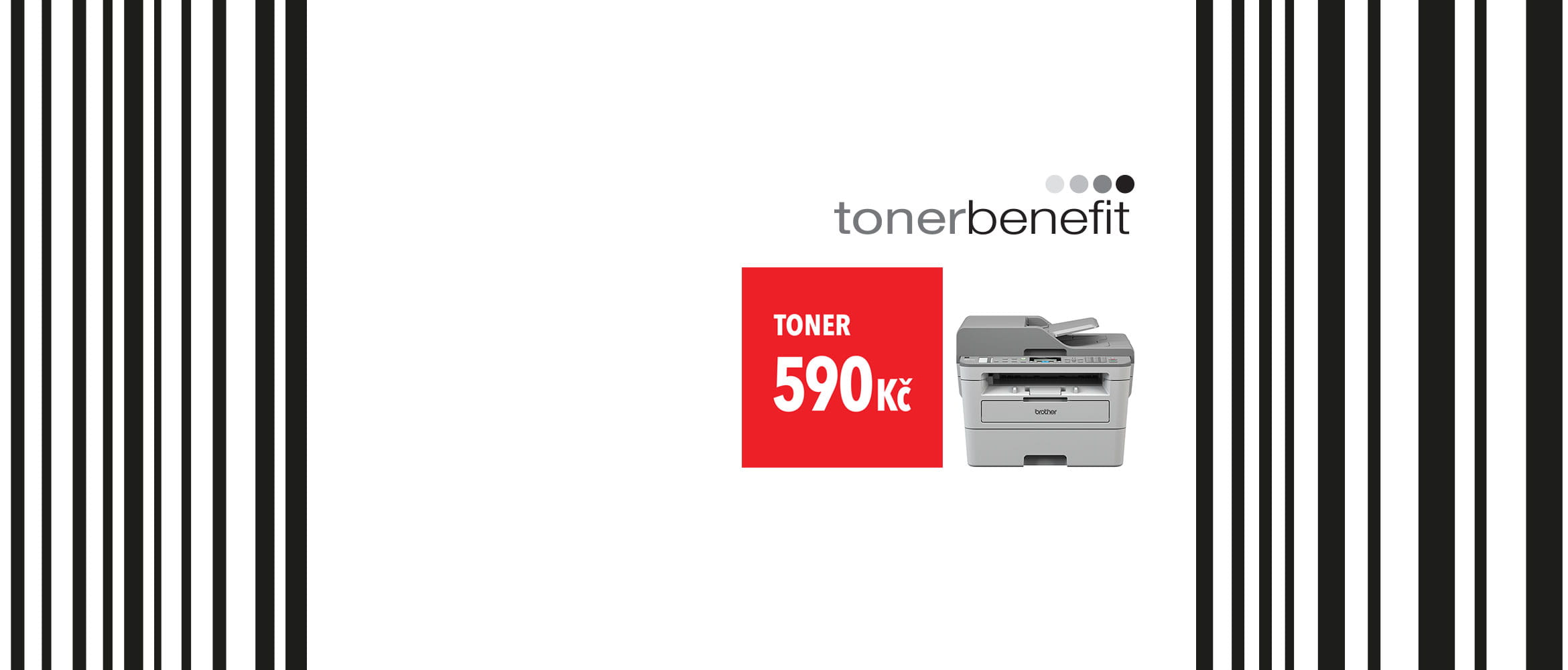Brother tonerbenefit image with printer and barcode