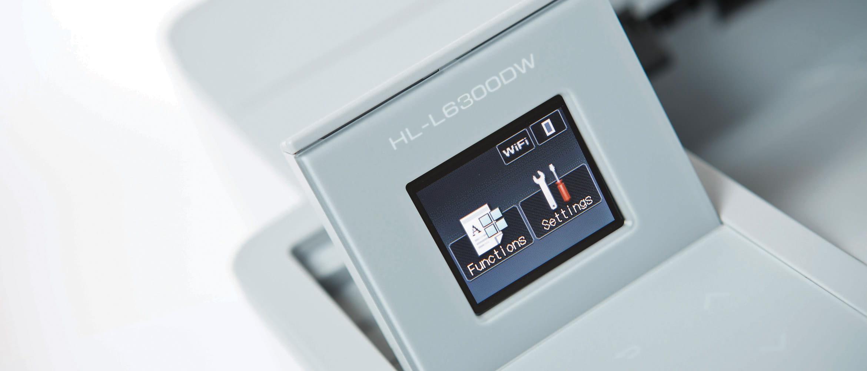 Detail barevného displeje laserové řady L600