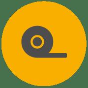 Ikona pásky Pro zobrazující pásku odvíjející se z role