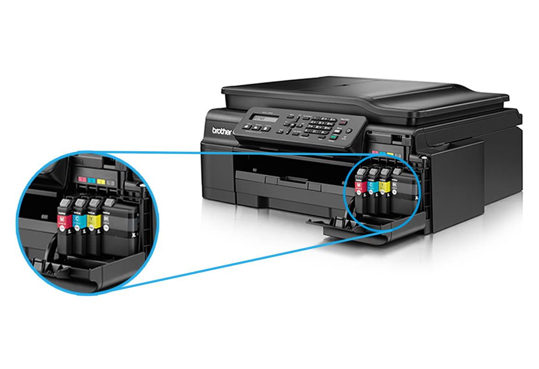 Detail na inkousty vložené do multifunkční tiskárny Brother
