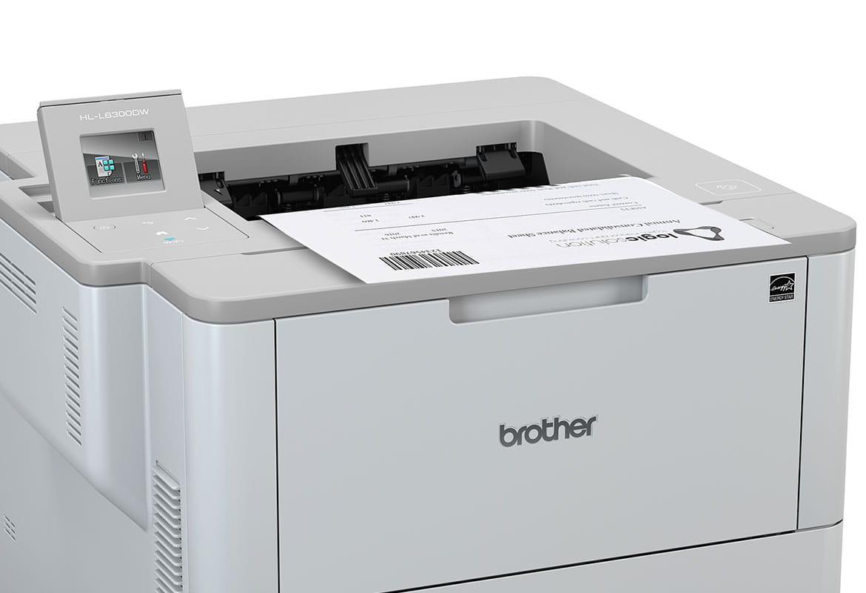 HL-L6300DW tiskne dokument s čárovým kódem