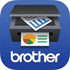 Ikona tiskárny výtisky a logem Brother
