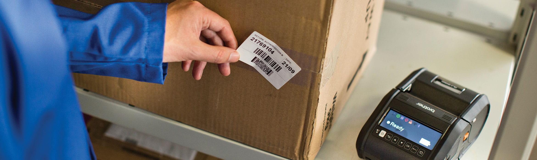 Výtisk štítku s čárovým kódem