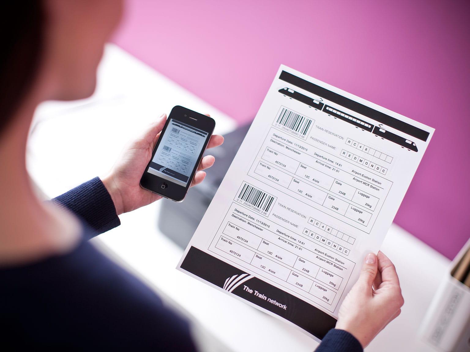 Řešení pro průmyslová odvětví pohostinství mobilní zóna Printsmart