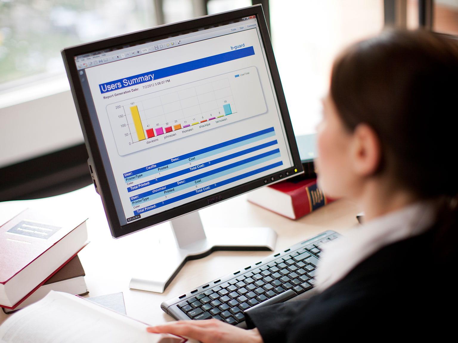 B guard řešení pro průmyslová odvětví profesionální službou správy tiskáren