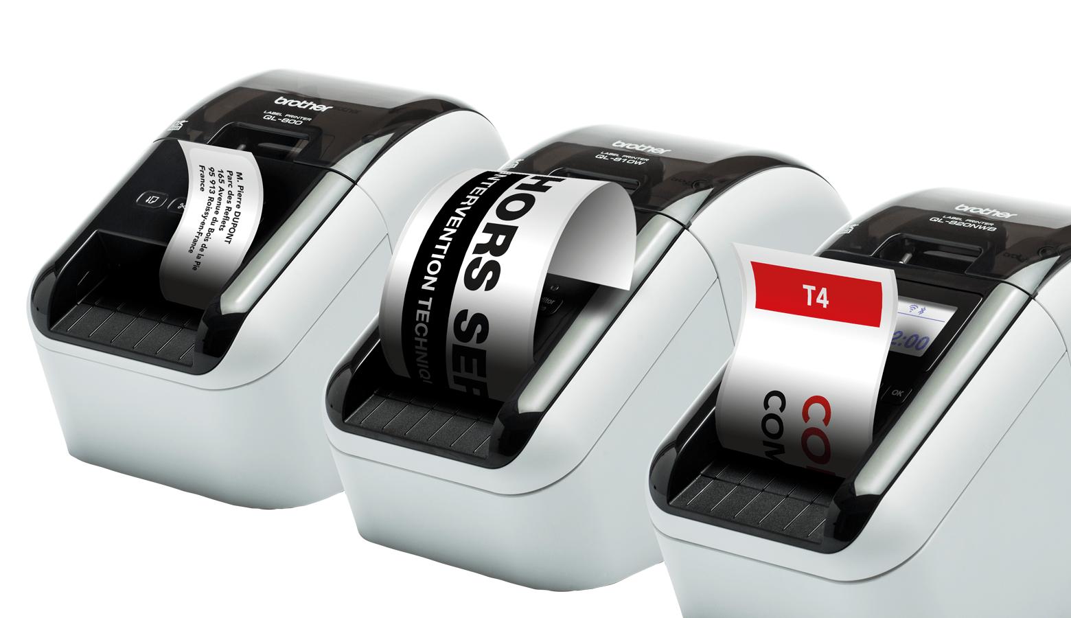Découvrez la gamme d'imprimantes d'étiquettes professionnelles QL-800