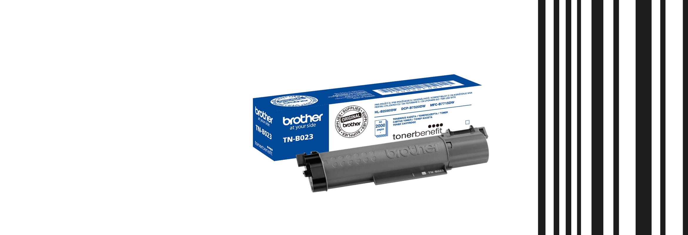 Toner box for TN-B023 with barcode