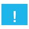 Ikona výkřičníku v modrém trojúhelníku