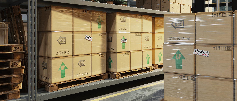 Krabice ve skladu s vytištěnými a nalepenými štítky