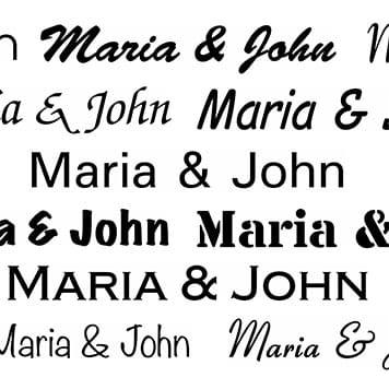Výběr fontů dostupných v aplikaci P-touch Design & Print