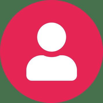 Červený kruh s bílou ikonou uživatele