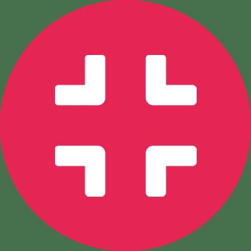 Ikona kříže v červeném kruhu