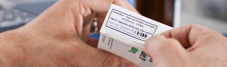 Štítek na krabičku s léky