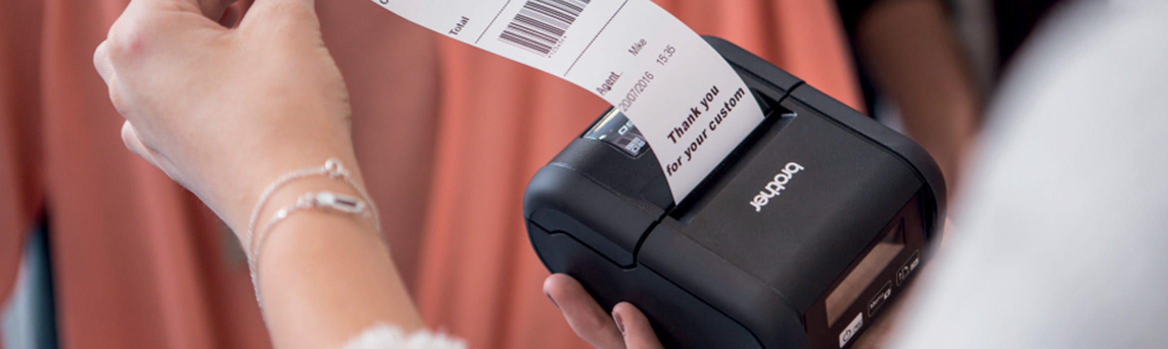Brother RJ series label printer for queue busting and receipt printing