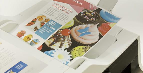 Barvni dokument na tiskalniku