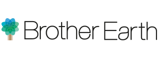 Brother Earth Logo Tree Left Text Single Line