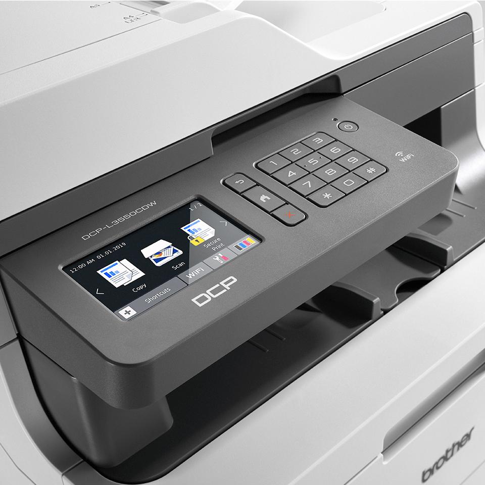 DCP-L3550CDW Barevná bezdrátová LED tiskárna 3 v 1 4