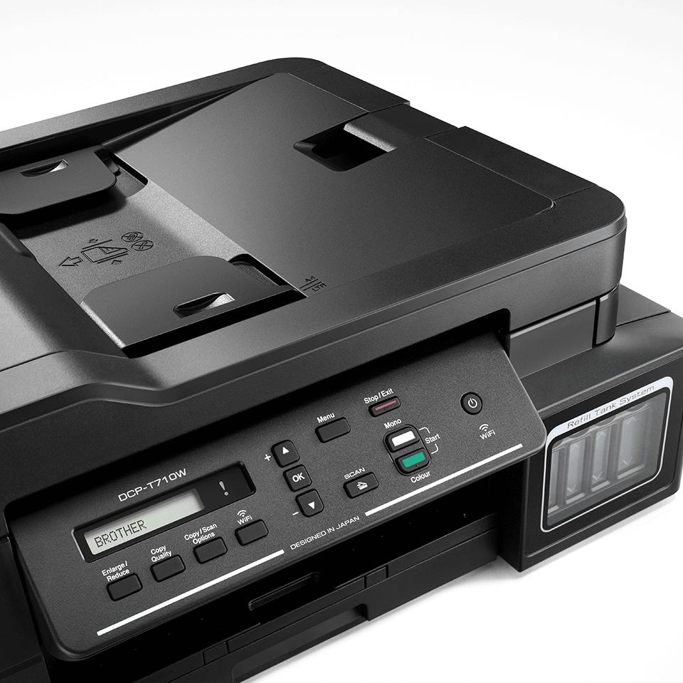 DCP-T710W InkBenefit Plus barevná multifunkční bezdrátová inkoustová tiskárna Brother 4