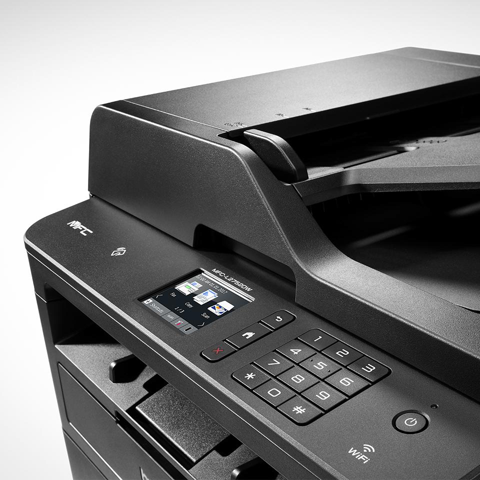 MFC-L2752DW Kompaktní bezdrátová multifunkční mono laserová tiskárna 6