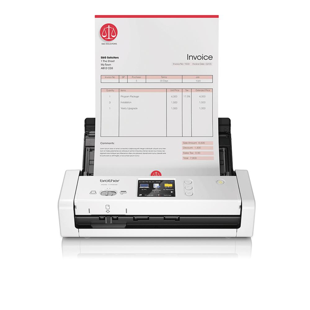 ADS-1700W kompaktní skener dokumentů pro náročné uživatele