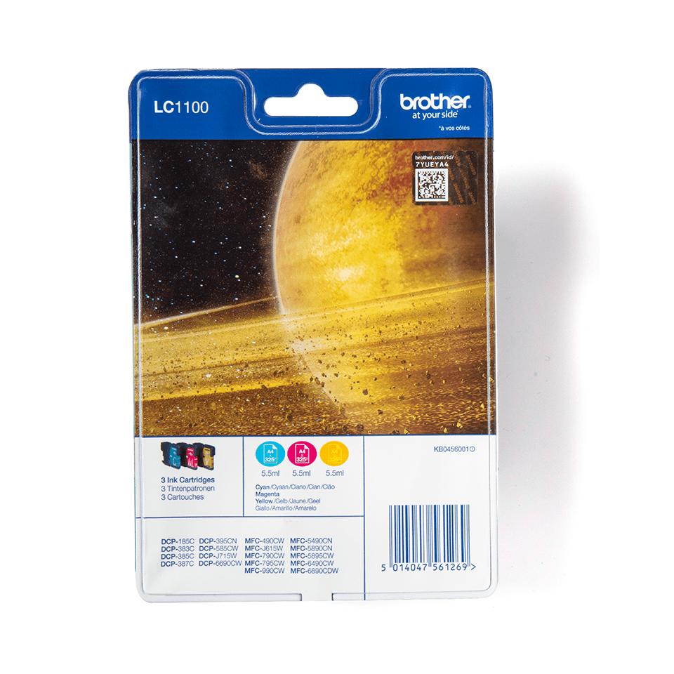 Sada originálních kazet Brother LC1100RBWBP s inkousty různých barev