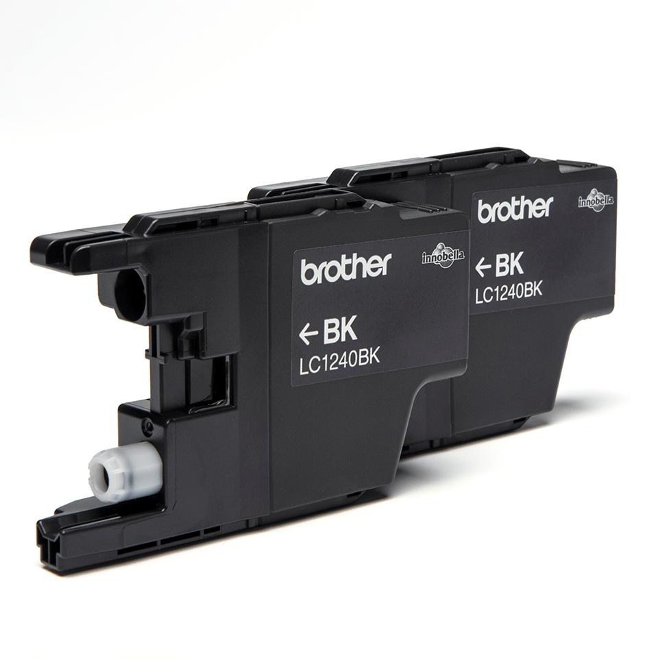 Sada originálních kazet (dva kusy) Brother LC1240BKBP2 s černým inkoustem 2