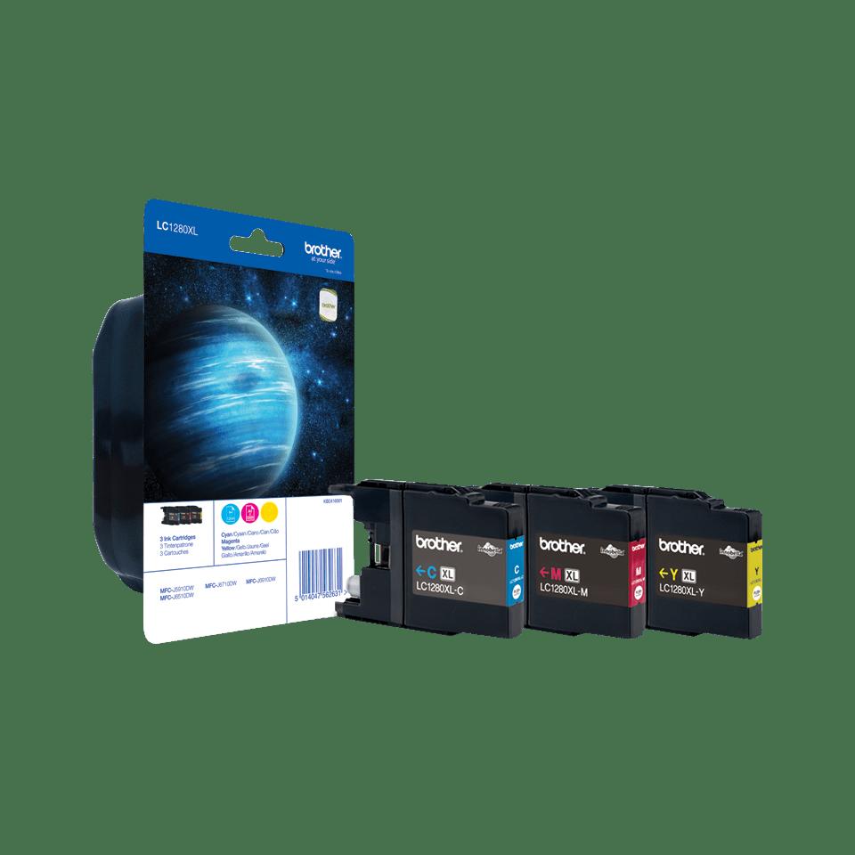 Sada originálních kazet Brother LC1280XLRBWBP s inkousty různých barev s vysokou výtěžností