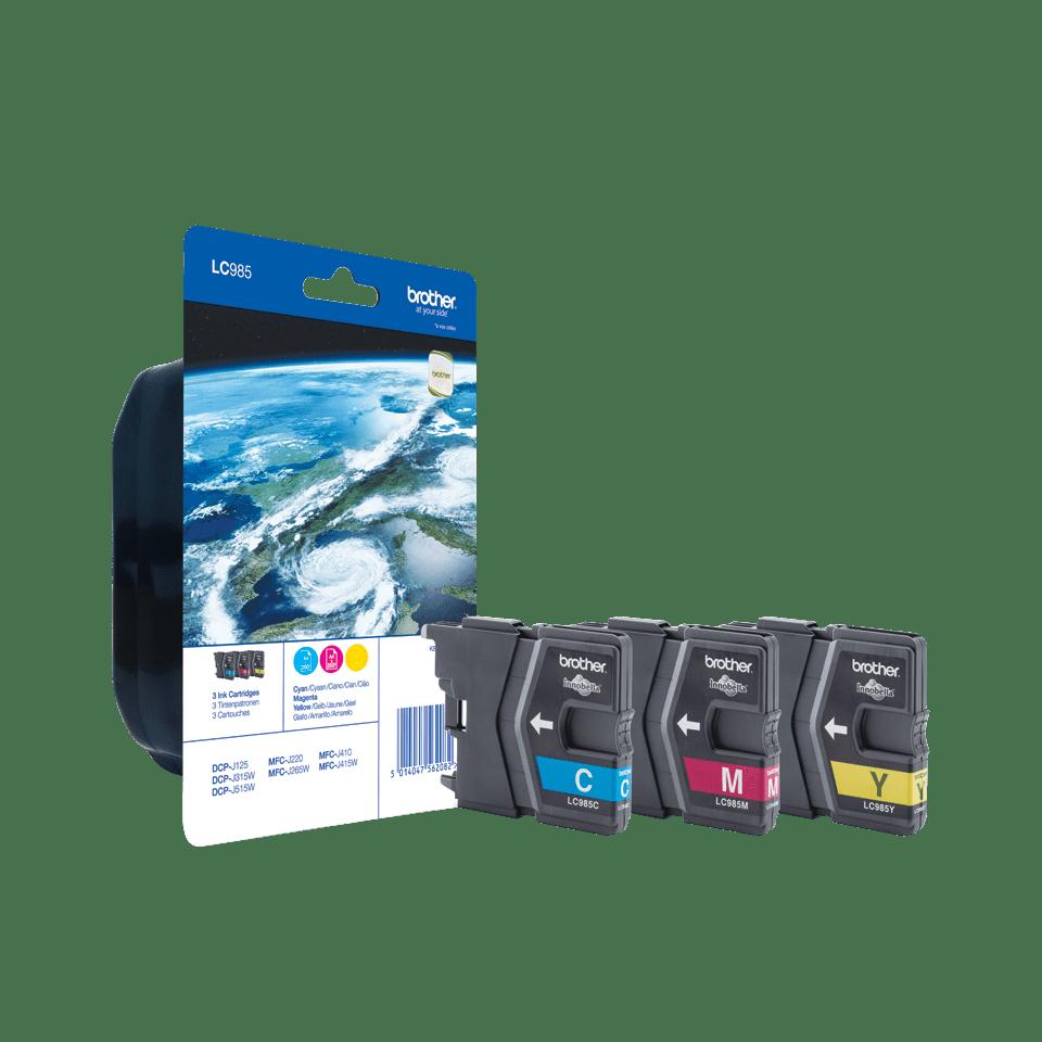 Sada originálních kazet Brother LC985RBWBP s inkousty různých barev