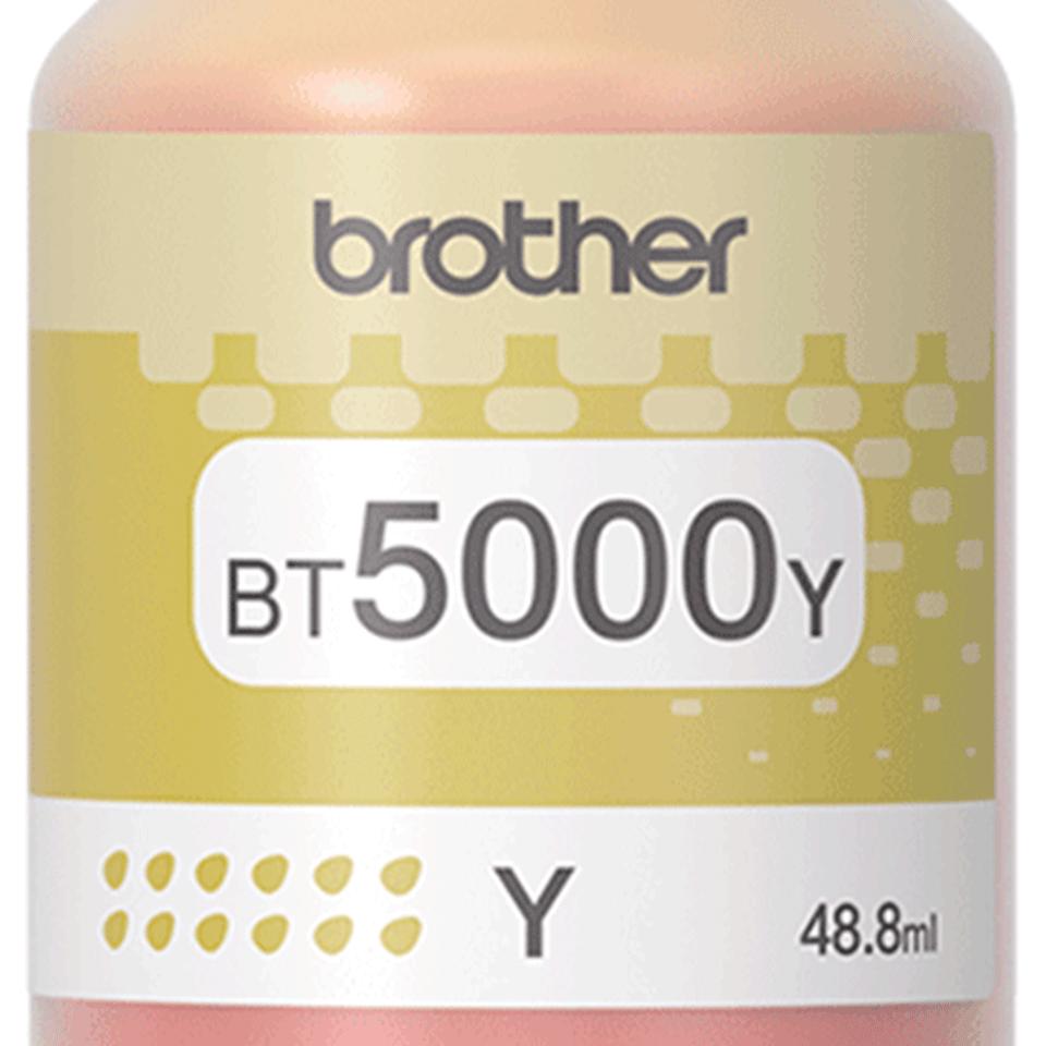 BT5000Y originální žlutá inkoustová lahvička Brother s vysokou výtěžností 2