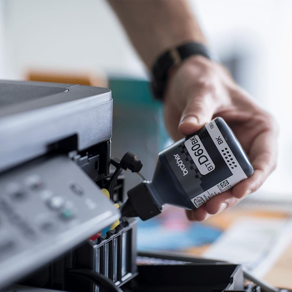 BTD60BK originální černá inkoustová lahvička Brother s vysokou výtěžností