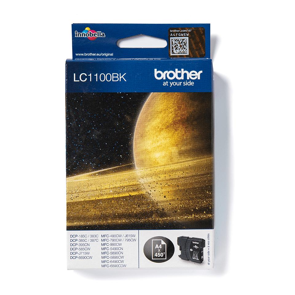 Originální inkoustová kazeta Brother LC1100BK - černá.