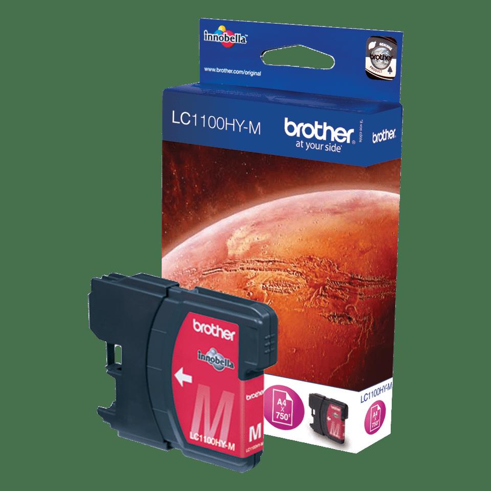 Originální inkoustová kazeta Brother LC1100HYM s vysokou výtěžností – purpurová