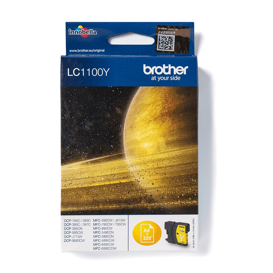 Originální inkoustová kazeta Brother LC1100Y - žlutá