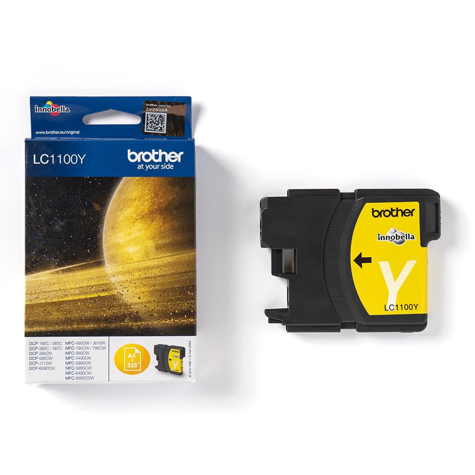 Originální inkoustová kazeta Brother LC1100Y - žlutá 3