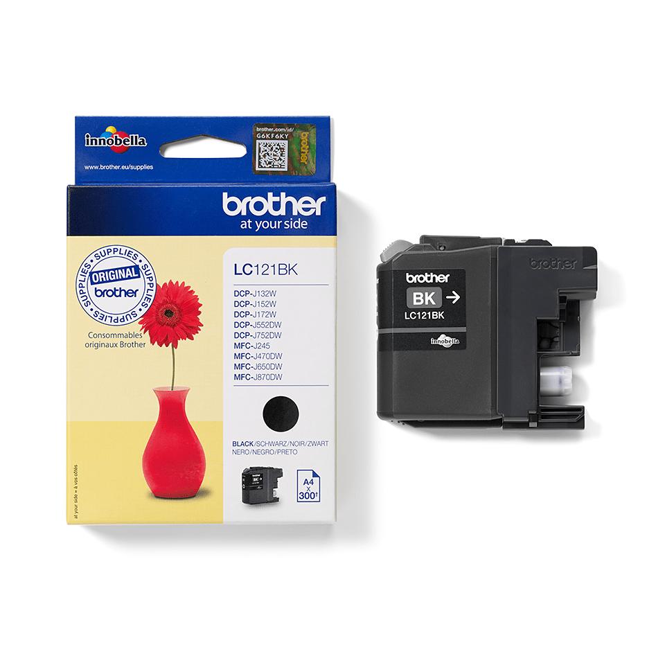 Originální inkoustová kazeta Brother LC121BK - černá 2