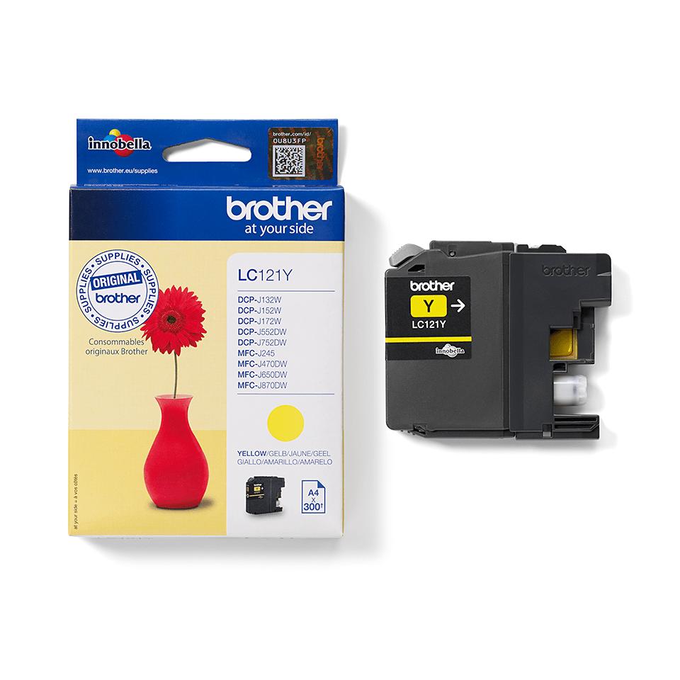 Originální inkoustová kazeta Brother LC121Y – žlutá 2