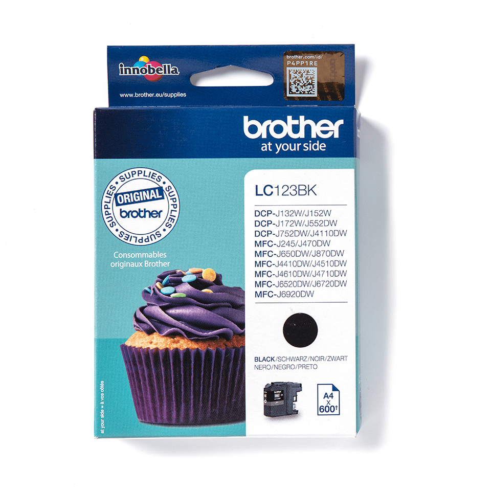 Originální inkoustová kazeta Brother LC123BK – černá