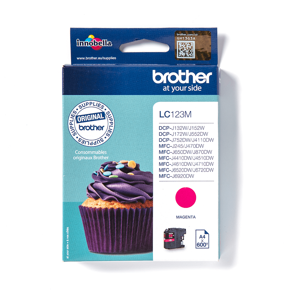 Originální inkoustová kazeta Brother LC123M – purpurová