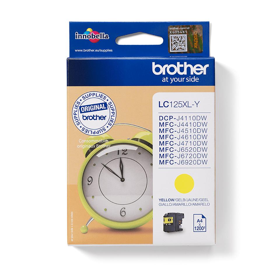Inkoustová kazeta Brother LC125XLY - žlutá