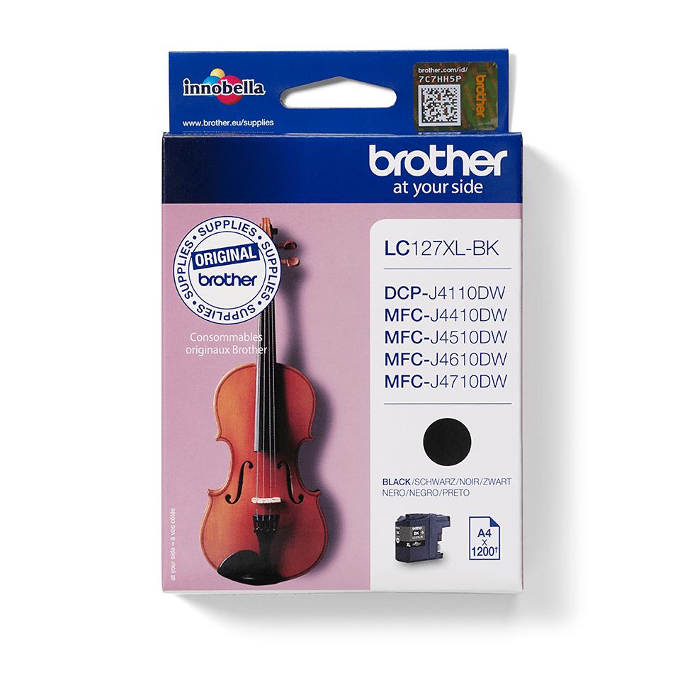 Originální inkoustová kazeta s vysokou výtěžností Brother LC127XLBK - černá