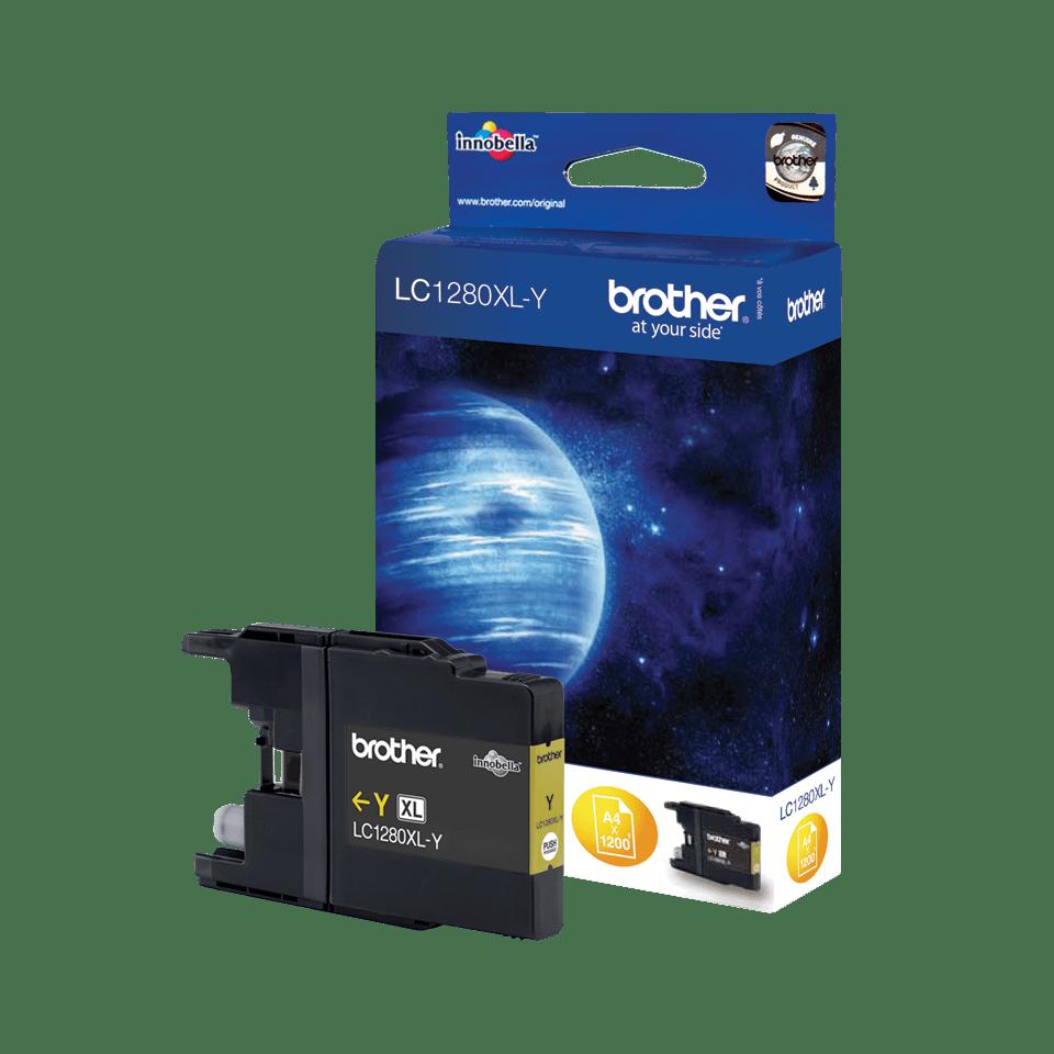 Originální inkoustová kazeta Brother LC1280XLY s vysokou výtěžností – žlutá