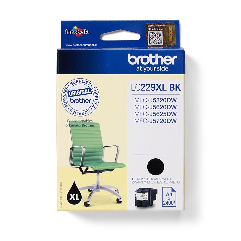 Originální inkoustová kazeta Brother LC229XLBK - černá 2