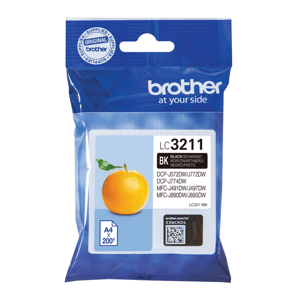 Genuine Brother LC3211BK ink cartridge - Black 2