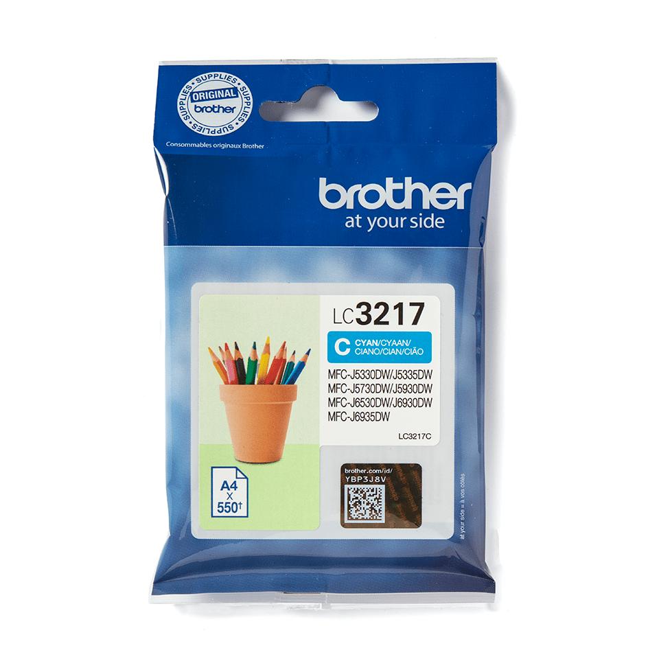 Originální inkoustová kazeta Brother LC3217C - azurová