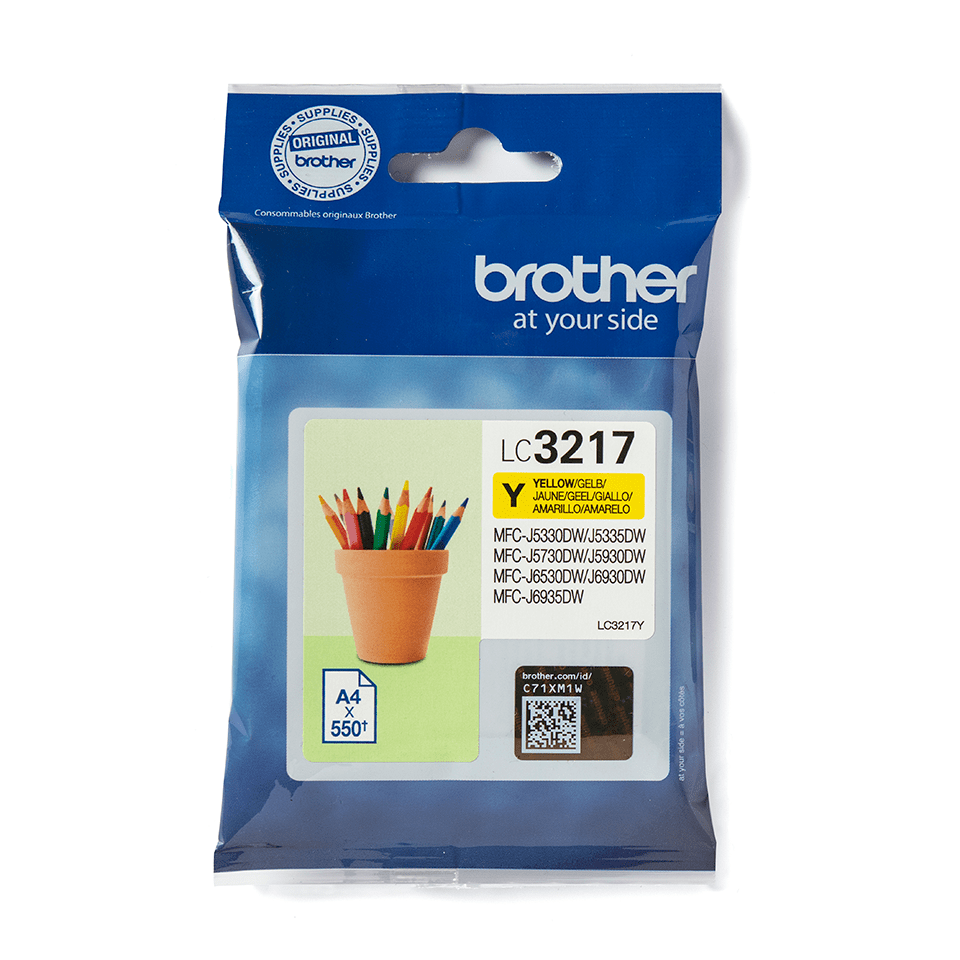 Genuine Brother LC3217Y Ink Cartridge – Yellow