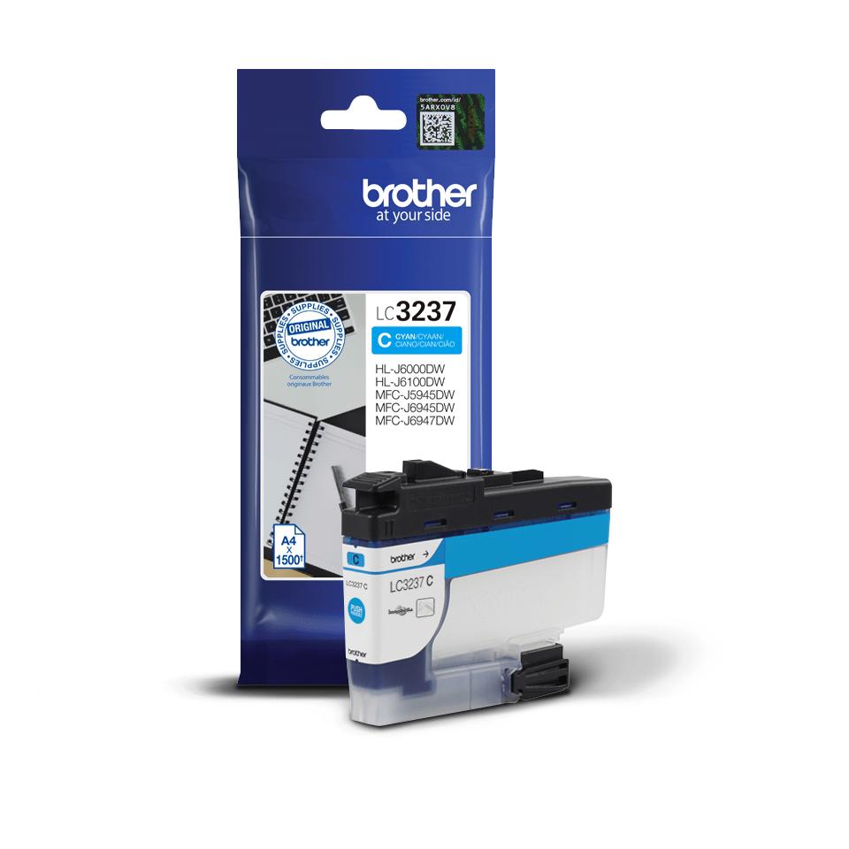 Originální inkoustová kazeta Brother LC3237C - azurová 3