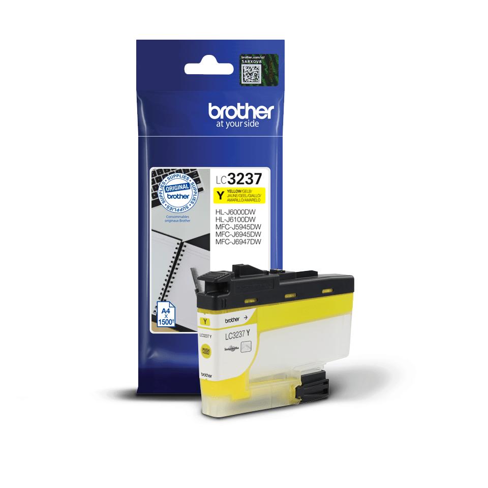 Originální inkoustová kazeta Brother LC3237Y - žlutá 2