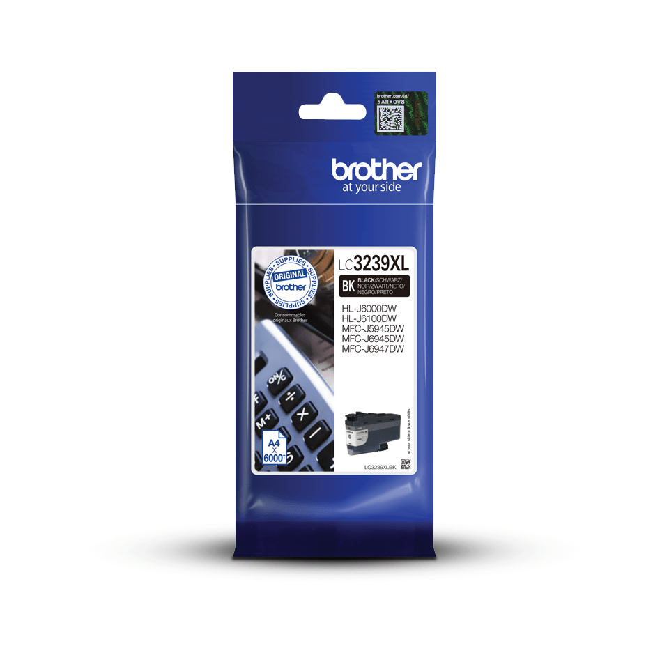 Originální Brother LC3239XLBK inkoustová kazeta s vysokou výtěžností - černá