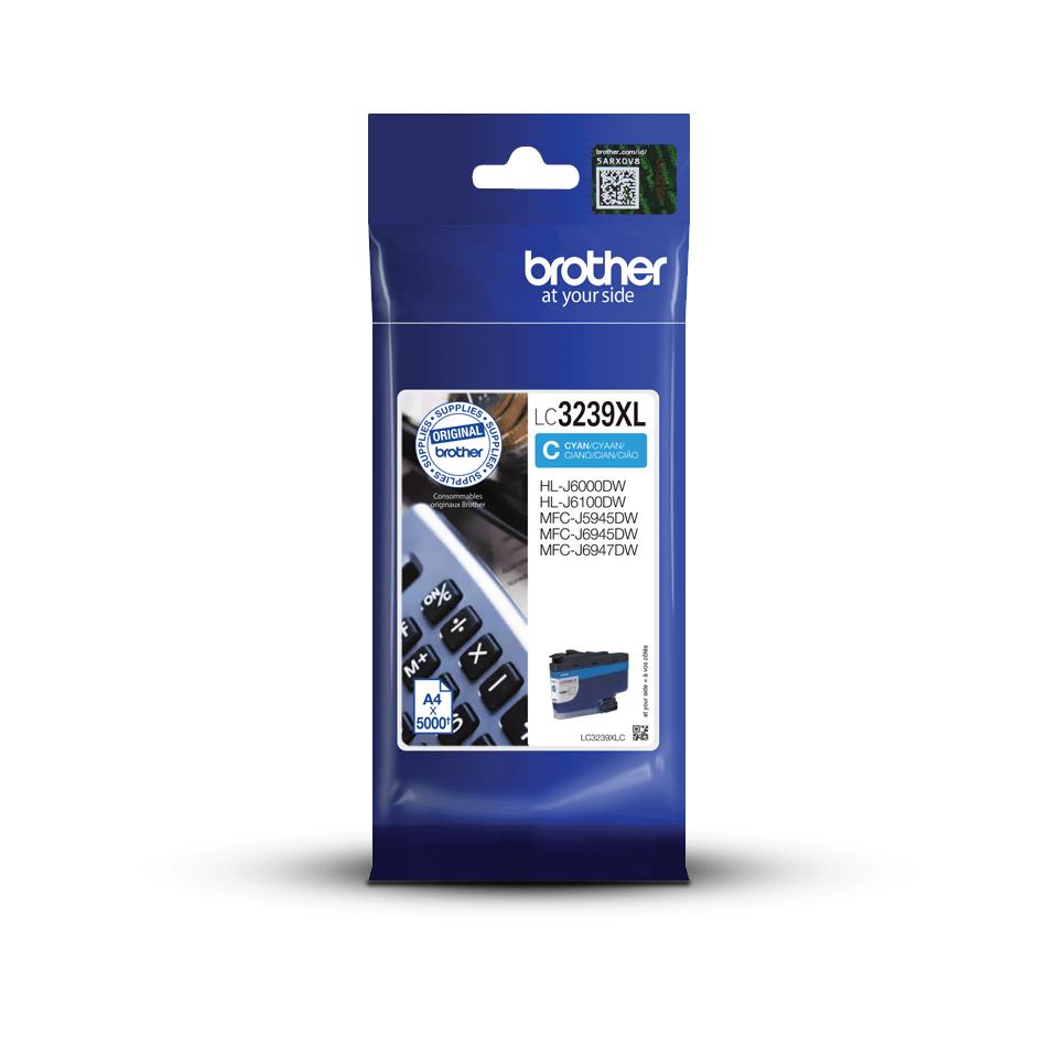 Originální Brother LC3239XLC inkoustová kazeta s vysokou výtěžností - azurová