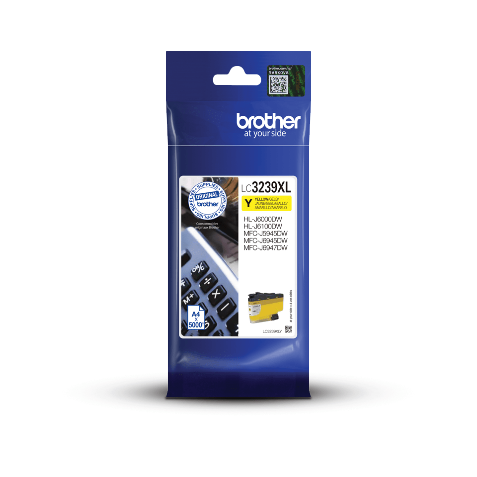 Originální Brother LC3239XLY Inkoustová kazeta s vysokou výtěžností - žlutá 3